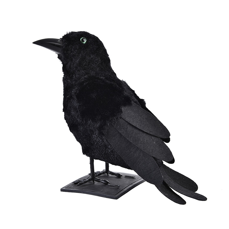BLACK FEATHERED CROW - 29CM
