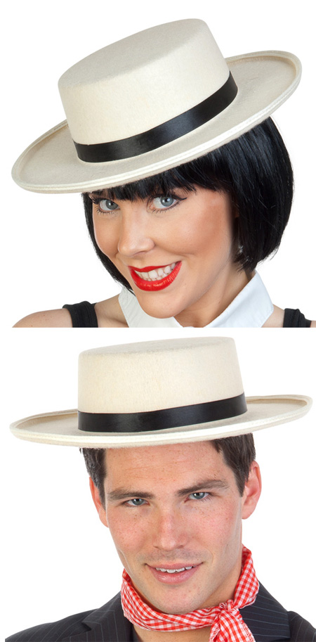 BOATER HAT - CREAM FELTEX