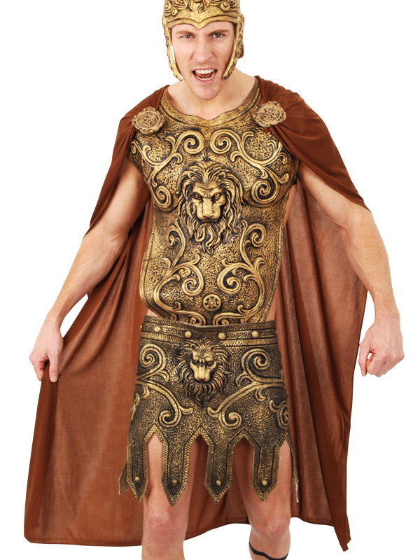 ROMAN WARRIOR BROWN CAPE WITH MEDALLIONS