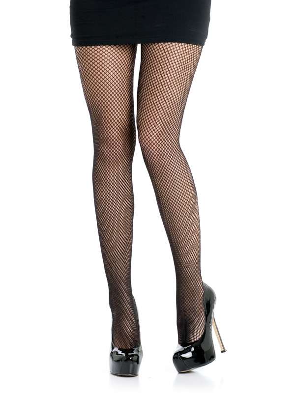 PANTYHOSE - BLACK FISHNETS ADULT