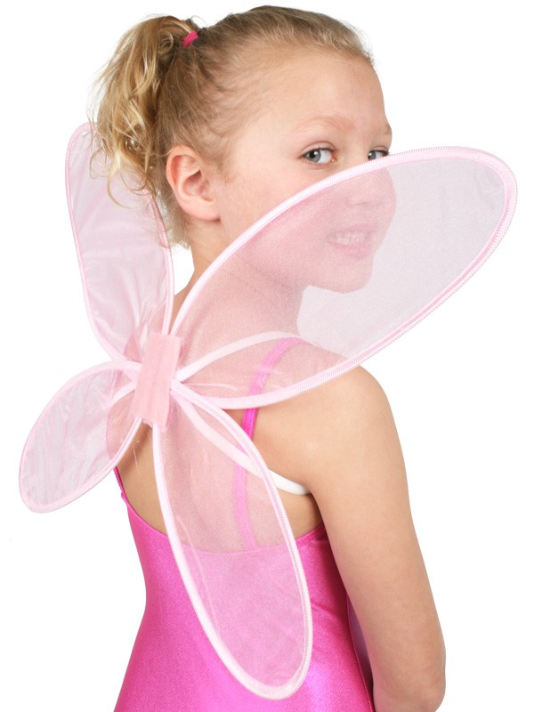 FAIRY BUTTERFLY WINGS IN SOFT PINK