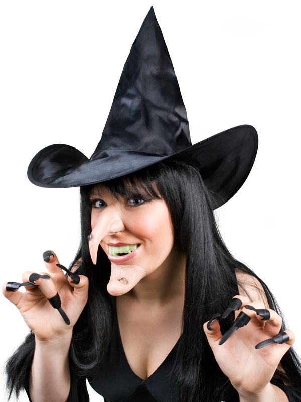 WITCH HAT, NOSE, CHIN AND NAIL SET