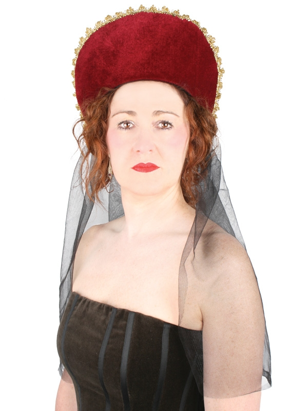 MEDIEVAL ELIZABETHAN HEADPIECE WITH VEIL