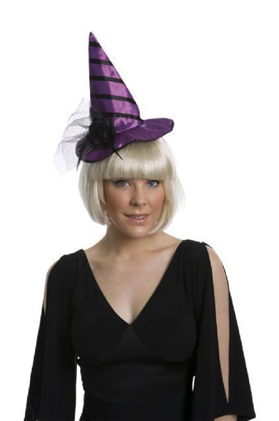 WITCHES HAT HEADBAND - PURPLE
