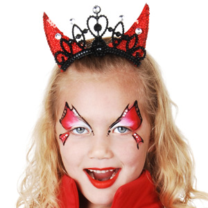 DEVIL HORNS HAIR COMB TIARA