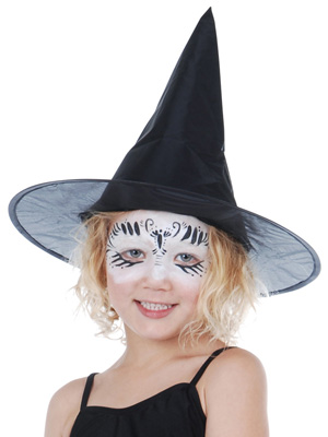 CHILD WITCH HAT PLAIN BLACK