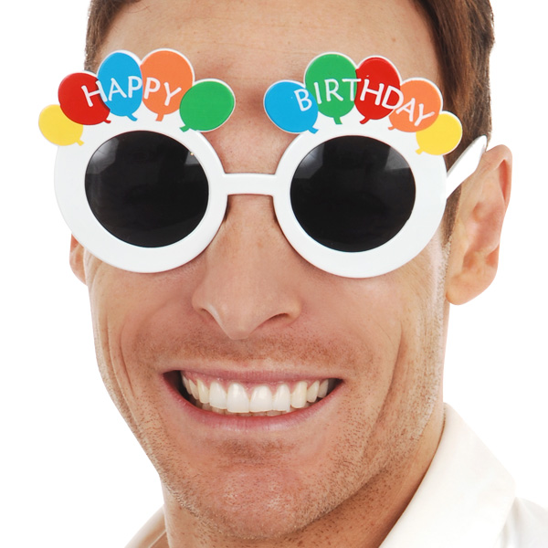 HAPPY BIRTHDAY BALLOONS SUNGLASSES