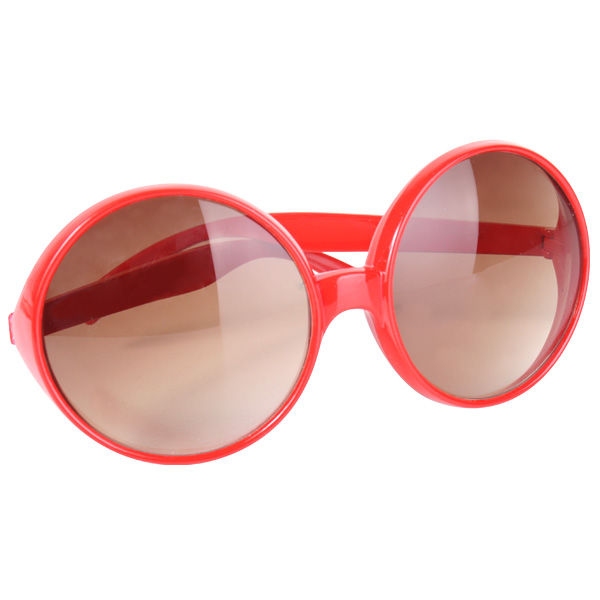 HIPPIE LARGE RED ROUND GLASSES