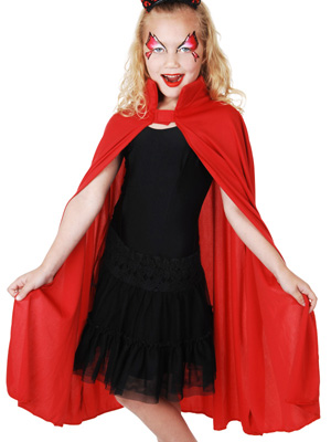 CHILD'S RED DEVIL CAPE