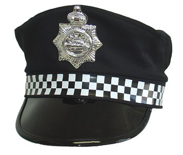 Image of Police Type Hat  Male