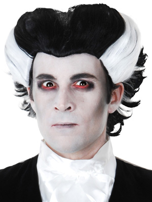 CLASSIC BLACK AND WHITE VAMPIRE WIG