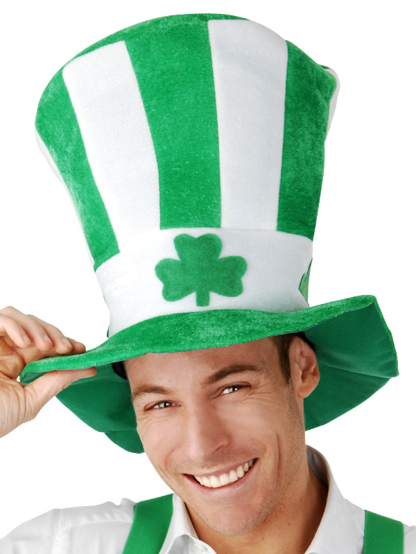 ST PATRICKS DAY SHAMROCK HAT - PLUSH