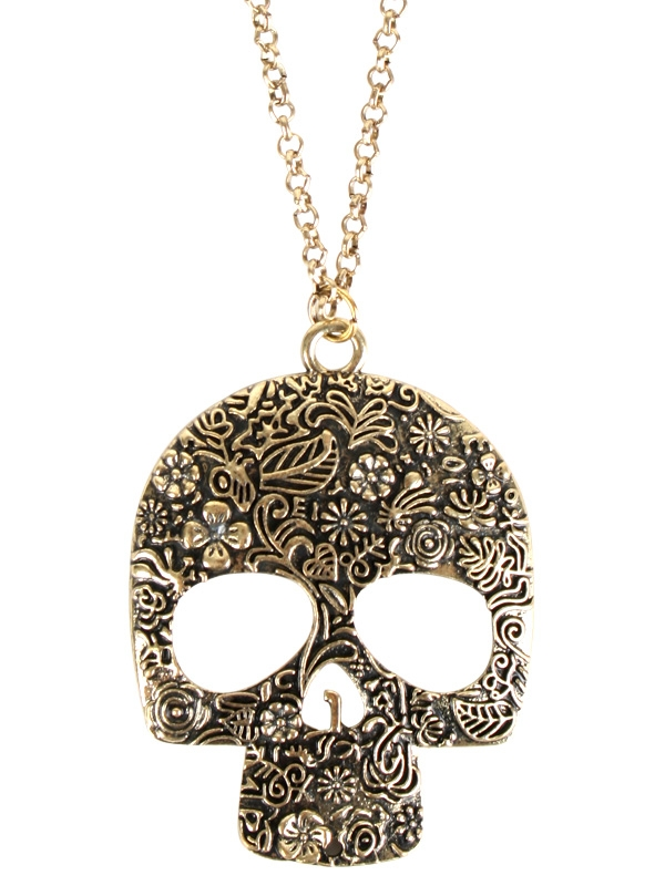 PIRATE SKULL CANDY DESIGN NECKLACE