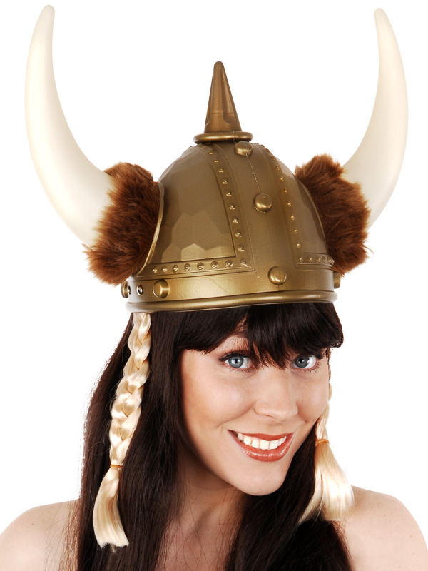 VIKING GIRL HELMET WITH PLAITS
