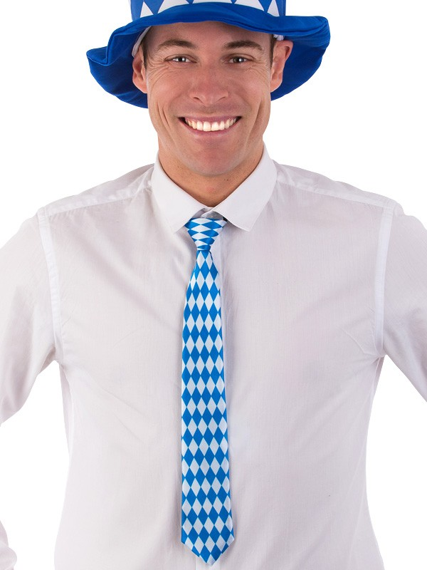Image of Oktoberfest Blue & White Check Tie
