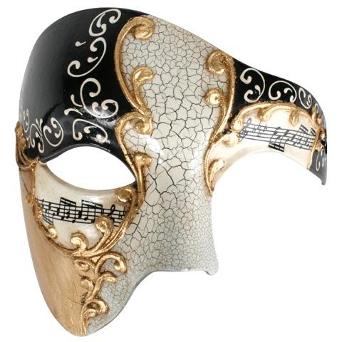 Image of Mask  Maestro Gold & Black Half Face Eye Mask