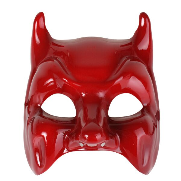 MASK - DIAVOLO RED GLOSSY DEVIL STYLE
