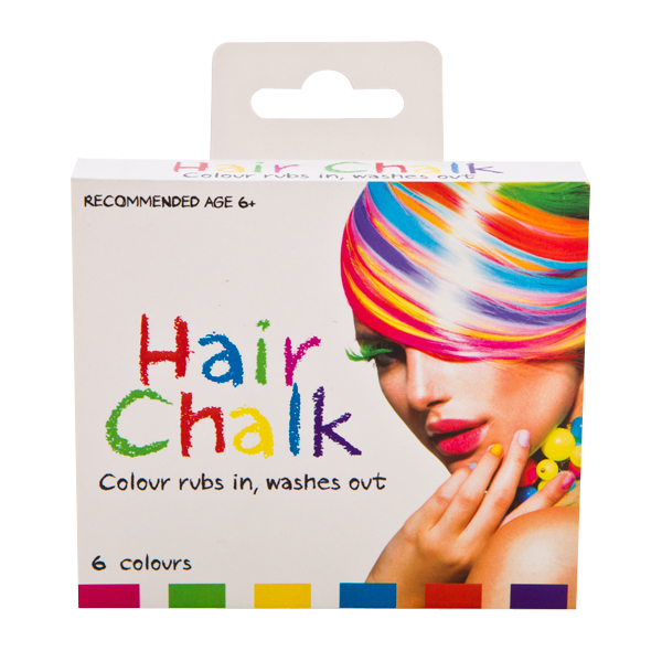 HAIR CHALK IN RAINBOW COLOURS - Pack of 6