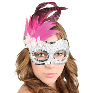 MASK - FEATHERED SYVANNA PINK