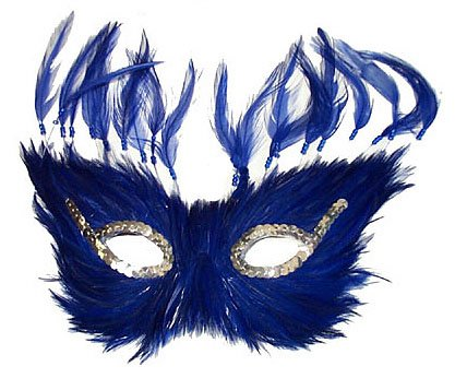 MASK - FEATHERED INCA BLUE