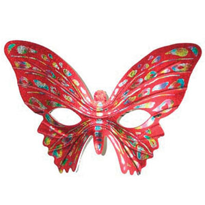 MASK - RED BUTTERFLY
