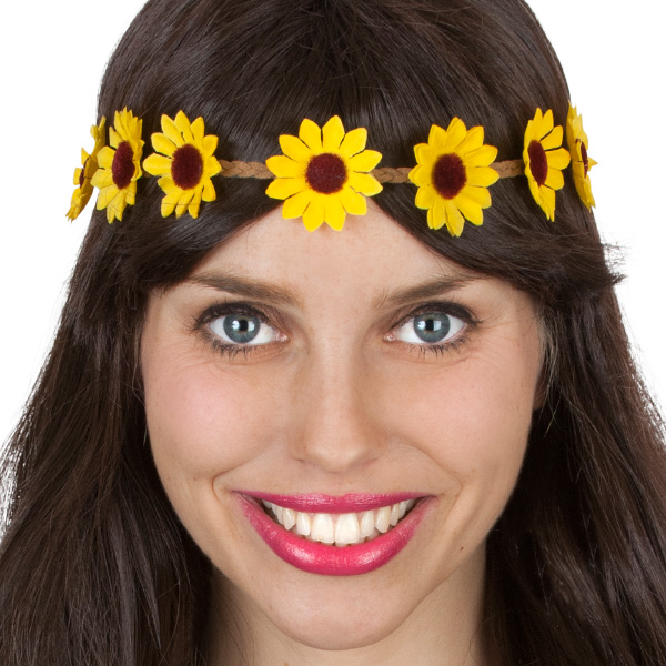 1960'S YELLOW DAISY CHAIN HEADBAND