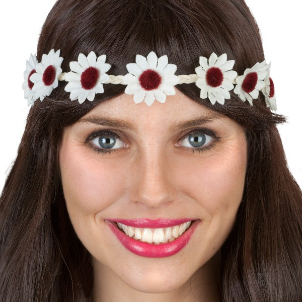 1960'S WHITE DAISY CHAIN HEADBAND
