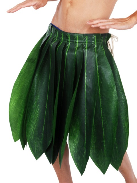 HAWAIIAN HULA GREEN PALM LEAF SKIRT - BULK BUY OF 20