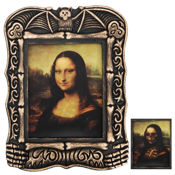HAUNTED HOLOGRAPHIC MONA LISA LARGE PICTURE FRAME