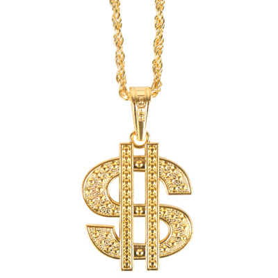 BIG DADDY GOLD DOLLAR $ NECKLACE