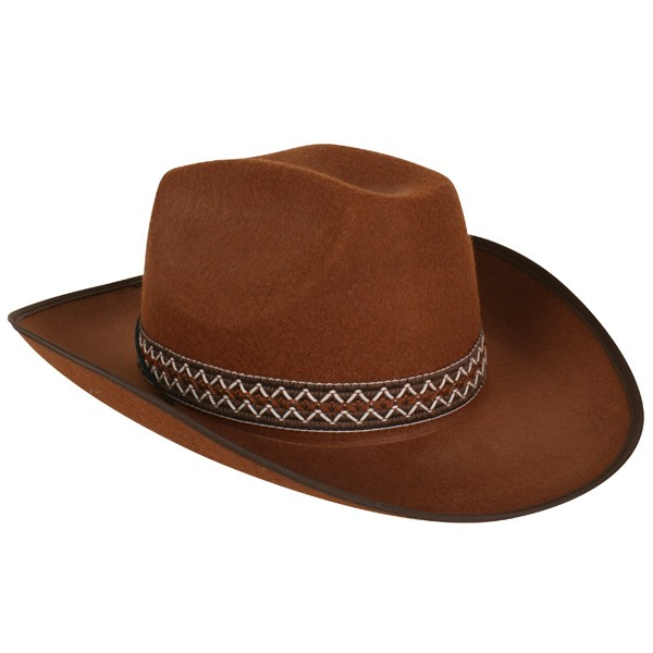 COWBOY HAT BROWN FELT