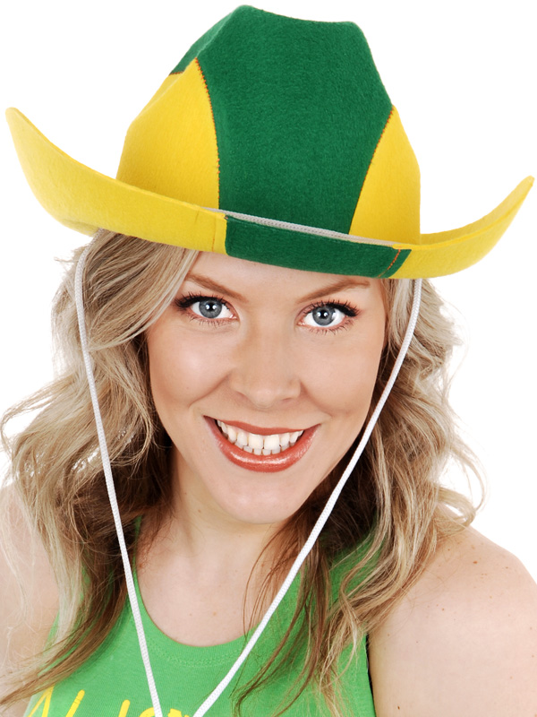 AUSSIE GREEN & GOLD COWBOY HAT
