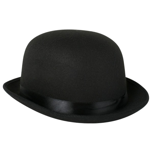 Image of Black Feltex Deluxe Bowler Hat