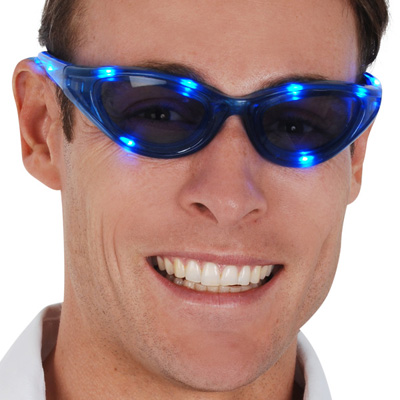 FLASHING GLASSES - SUNGLASS GOGGLE STYLE