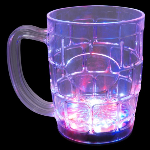 FLASHING LED BEER MUG