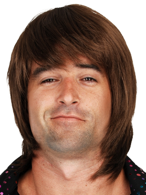 LAYERED CHOCOLATE BROWN SHAGGY OR GREG BRADY STYLE WIG