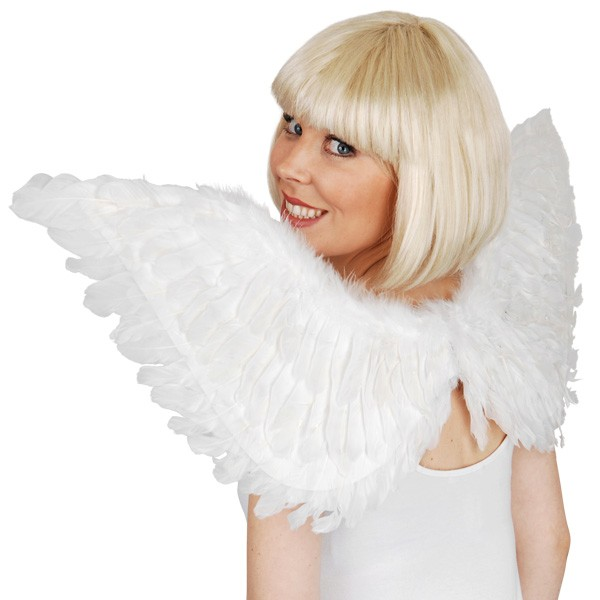 ADULT ANGEL LARGE FEATHER WINGS - AVAILABLE IN 3 COLOURS