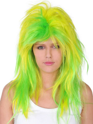 WIG - LIME GREEN & YELLOW SPLICE