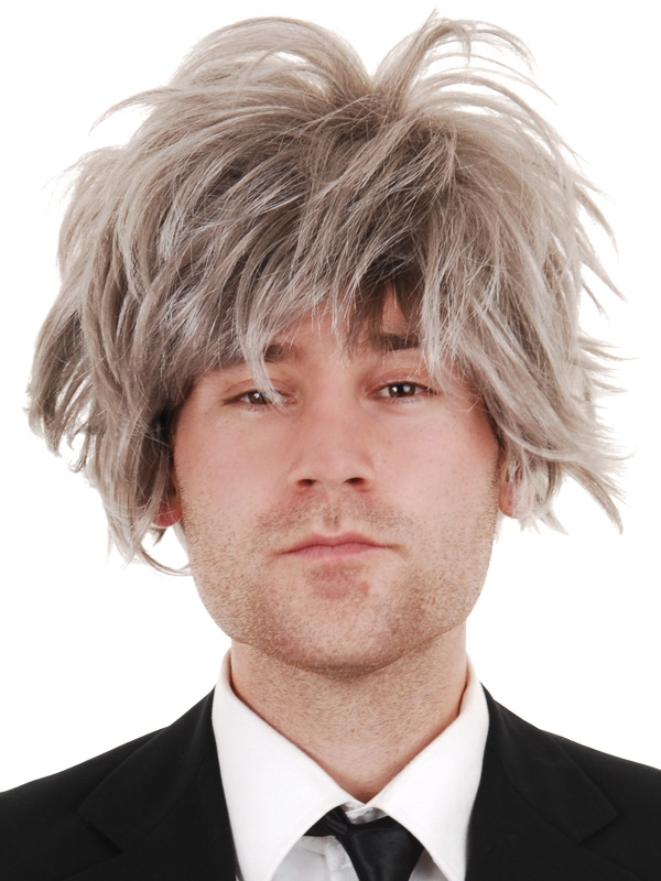 Image of Albert Grey Streaked Mad Scientist Wig
