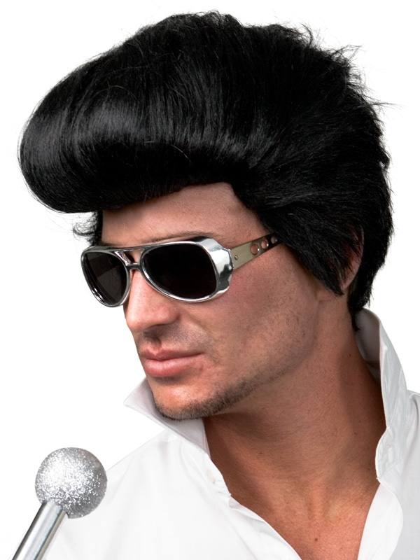 ELVIS WIG AND SIDEBURNS - BUDGET