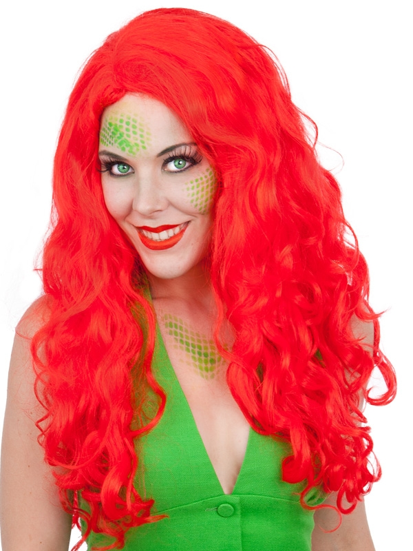 MERMAID WIG - BRIGHT RED