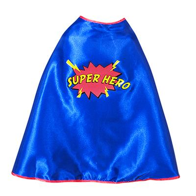 CHILD'S BLUE SUPERHERO CAPE