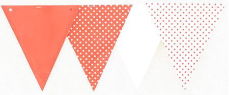 RED POLKA DOT BUNTING 3.6M LONG