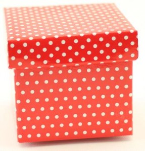 RED POLKA DOT GIFT OR TOPIARY BOX