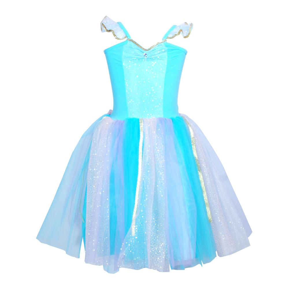 GIRLS FAIRYTALE SPARKLE PRINCESS DRESS - BLUE 5-6 YEARS