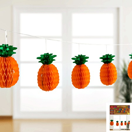 PINEAPPLE PAPER GARLAND - 2.4M