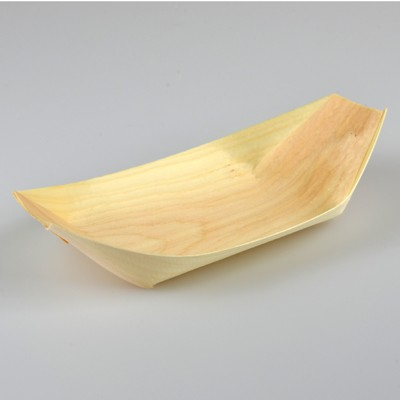 NATURAL ECO PINE BOAT TRAYS MEDIUM - PACK OF 50