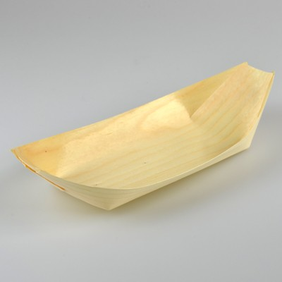 NATURAL ECO PINE BOAT TRAYS LARGE - PACK OF 50