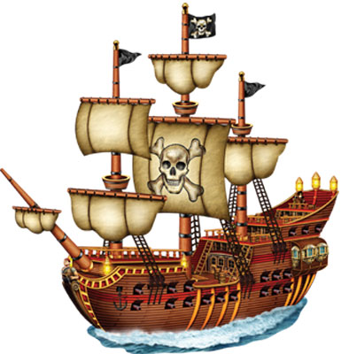 Image of Pirate Ship Cutout  Jointed