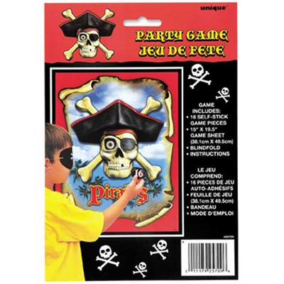 PIRATE PARTY GAME -PIN THE EYE PATCH ON THE PIRATE